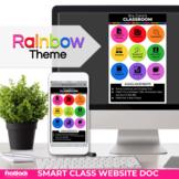Parent Communication Template | Rainbow | Google Slides | Class Website