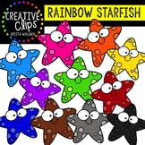 Rainbow Smiley Starfish: Summer Clipart {Creative Clips Clipart}