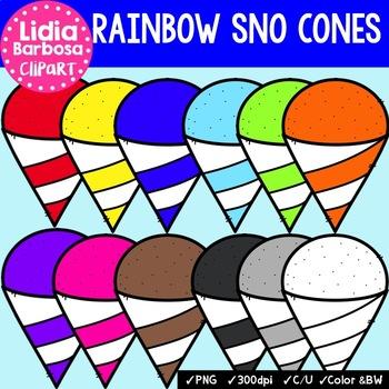 Rainbow Sno Cones- Digital Clipart