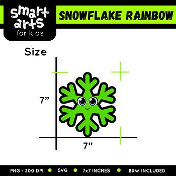 Rainbow Snowflake Clip Art