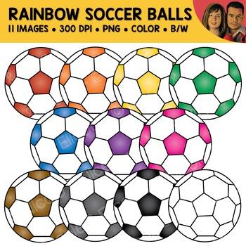 Rainbow Soccer Ball Clipart
