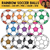 Rainbow Soccer Ball Clipart