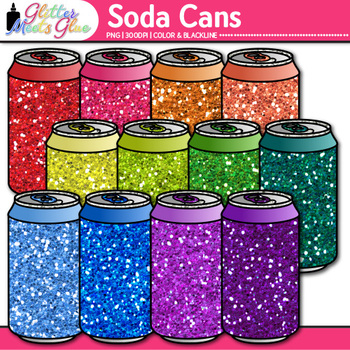 """Rainbow Soda Can Clip Art 