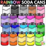 Rainbow Soda Cans Clipart