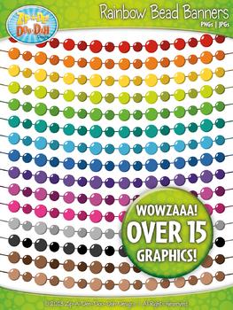 Rainbow Bead Banners Clipart {Zip-A-Dee-Doo-Dah Designs}