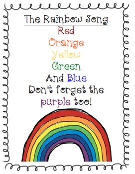 Rainbow Song Poster