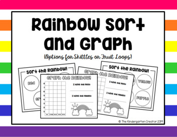 Skittle or Fruit Loop Sorting and Graphing  Activities