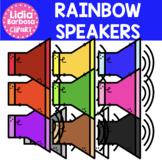 Rainbow Speakers Clipart