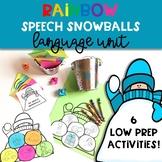 Winter Speech Therapy Craft: Language Rainbow Snowballs