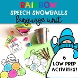 Winter Speech Therapy Craft: Language Rainbow Snowballs