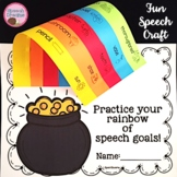 St. Patrick's Day Rainbow Speech Therapy Craft {Articulation Language Fluency}
