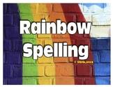 Rainbow Spelling