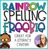 Rainbow Spelling Center Activity