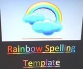 Rainbow Spelling Template