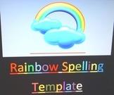 Rainbow Spelling Template