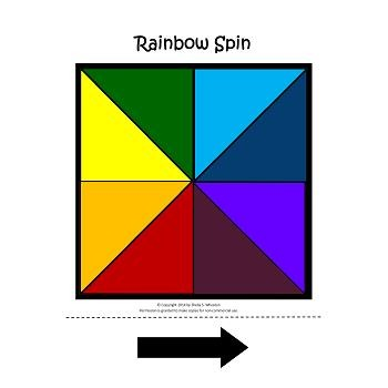 Rainbow Spin FREEBIE:  A fun game that can be used to practice any skill!