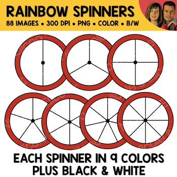 Rainbow Spinners Clipart