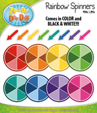 Rainbow Spinners Clipart {Zip-A-Dee-Doo-Dah Designs}