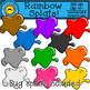 Rainbow Splats Clip Art
