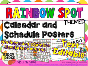 Rainbow Spot Theme Classroom Decor bundle