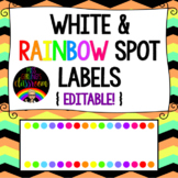 Rainbow Spots Labels (White Background) {EDITABLE!}