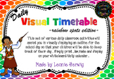 Rainbow Spots Visual Timetable - Daily Chart - Free