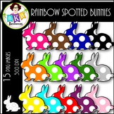 Rainbow Spotted Bunny ● Clip Art ● Products for TpT Sellers