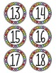 Rainbow Spotted Student Numbers - Circular Labels