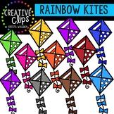 Rainbow Spring Kites: Spring Clipart {Creative Clips Clipart}