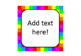 Rainbow Squares Labels - Square Shape {EDITABLE!}