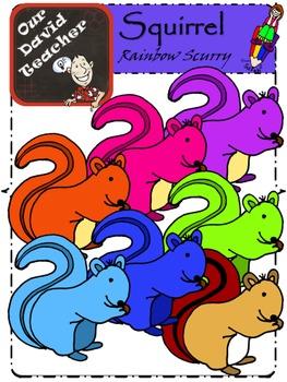 Rainbow Squirrels { OurDavidTeacher }