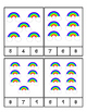 Rainbow - St. Patrick's Day - Count and Clip Cards #1-24