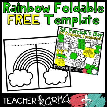 rainbow st patrick s day foldable flip book template freebie