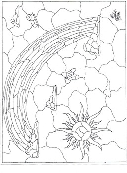 Rainbow Stained Glass Coloring Page