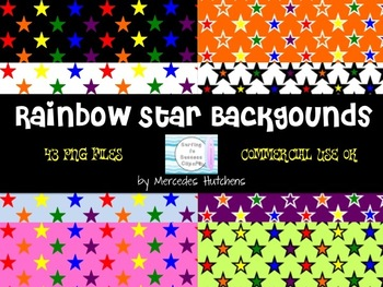 Rainbow Star Backgrounds