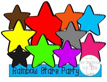 Rainbow Stars Clip Art