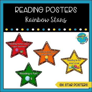 Rainbow Stars Reading Posters