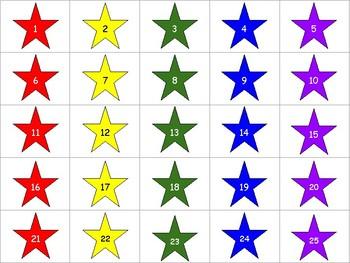 Rainbow Stars with numbers