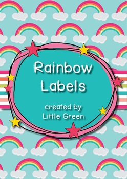 {FREE} Rainbow Stationery Labels