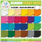 Rainbow Sticky Notes Clip Art