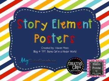 Rainbow Story Element Poster Set