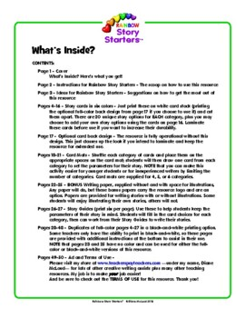 Rainbow Story Starters—Colorful Creative Writing Activity!