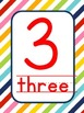 Rainbow Stripe 1-10 number pack