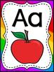 Rainbow Stripe Alphabet Posters