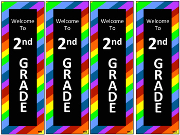 Rainbow Stripe Back to School Bookmarks