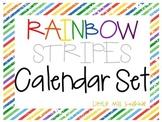 Rainbow Stripe Calendar Set
