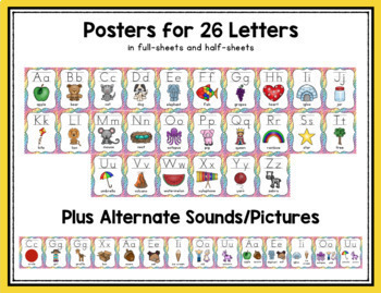 Colors, Numbers & Shapes: Rainbow Stripe Classroom Posters Bundle