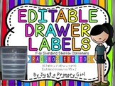Rainbow Stripe Editable Drawer Labels