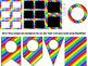 Rainbow Stripe Editable Nameplates, Bookmarks, Pennants, a