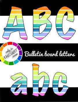 Rainbow Stripe Letters